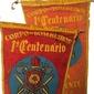 """Flâmulas do PRIMEIRO CENTENÁRIO DO CORPO DE BOMBEIROS """" 1856-1956"""""""