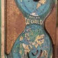 Pinball de Lata ROUND THE WORLD Durable Toy & Novelty Co., New York, Original dos Anos 1930