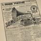 Propaganda da Pathé Records LE DISQUE PATHE França, Original de 1908