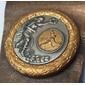 Medalha de TÊNIS em Forma de Flâmula de Metal, Original de Meados do Século XX