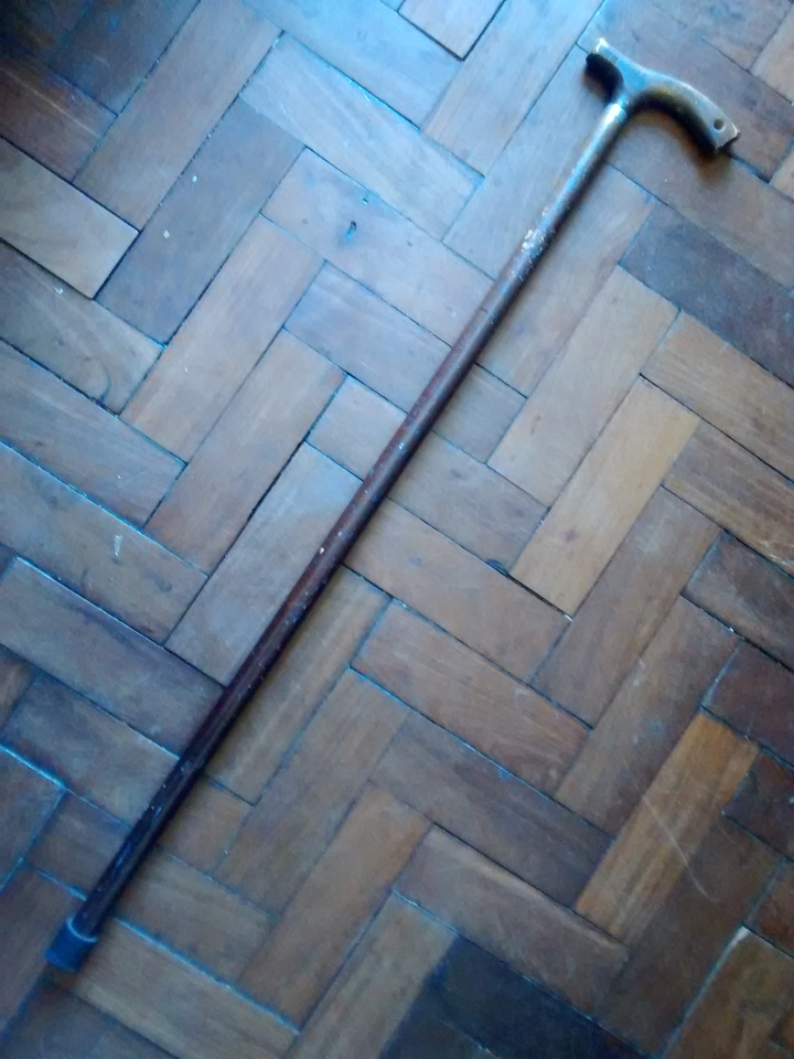 e20a0712b1e1e Bengala de Madeira Trabalhada em Formato de Folha