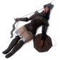 Marionete Italiana Soldado Medieval em Madeira e Lata com 50cm