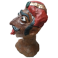 Cabeça de Pedra GAPER Usado Fora das Vitrines das Farmácias na Holanda, Medindo 46 cm