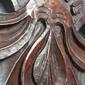 Espelho Bisotado de Jacarandá Entalhado Medindo 96cm