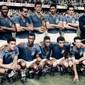 Flâmula Autografada pela Seleção Brasileira Campeã do Mundo na Copa da Suécia em 1958