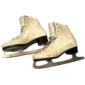 Par de Patins Femininos DOMINION CANADA Patinação no Gelo, Fabricados em Couro