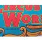 Flâmula ORIGINAL de 1983 do Parque Temático CIRCUS WORLD Florida, Medindo 75cm