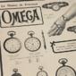 Propaganda dos Relógios OMEGA  O Relógio Da Precisão ,Original de 1908