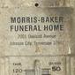 Publicidade: Termômetro da Funerária MORRIS-BAKER Funeral Home, Estados Unidos