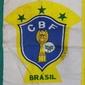 Bandeira da CBF Confederação Brasileira de Futebol RAMINHO DE CAFÉ (1982-1986) Fabricada Pela Banderart em 1982