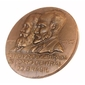 Medalha do Centenário da ESTRADA DE FERRO CENTRAL DO BRASIL Dom Pedro II e Christiano Ottoni  1858 -1958