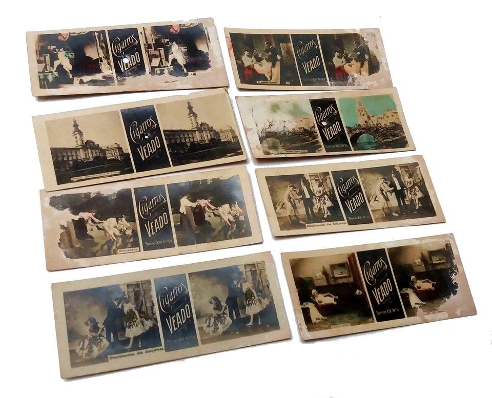 d6f98fc5b6226 Lote de Estereoscopias Brindes dos CIGARROS VEADO Originais dos Anos 1910