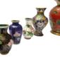 Lote com Onze Vasos Em CLOISONNÉ Made In China