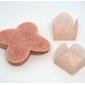 50 Un. Forminhas para Doces 4 Pétalas Caixeta Quadrada Tela Rosa Nude