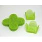 50 Forminhas para Doces 4 Pétalas Caixeta Quadrada Tela Verde Pérsea