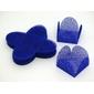 50 Forminhas Quadradas Azul Royal