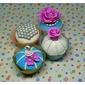 50 Forminhas saia wrappers para cupcake em tela