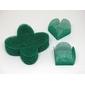 50 Un. Forminhas para Doces 4 Pétalas Caixeta Quadrada Tela Verde Esmeralda