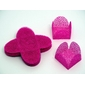 50 Un. Forminhas para Doces 4 Pétalas Caixeta Quadrada em Tela Pink