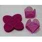 50 Forminhas para Doces 4 Pétalas Caixeta Quadrada Tela Violeta Fluor