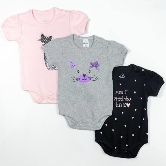 Kit com 6 body infantil menino e menina - JESSICA ATACADO 9564b30f529