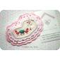 Broche rosa  *tecido importado*