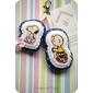 Chaveiro de bolsa Snoopy e Charlie Brown  *tecido importado*
