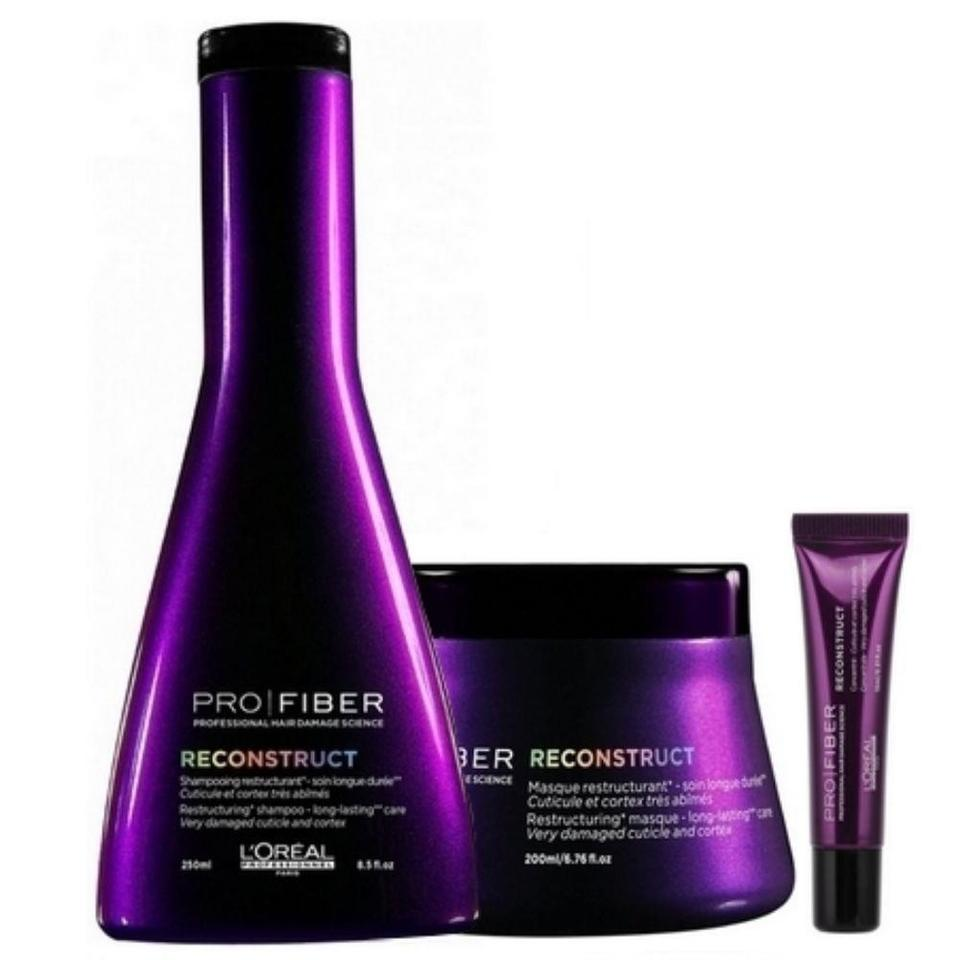 f82c3ca31 Loreal Pro Fiber Reconstruct Shampoo + Máscara + Ampola Loreal Pro Fiber  Reconstruct Shampoo + Máscara + Ampola
