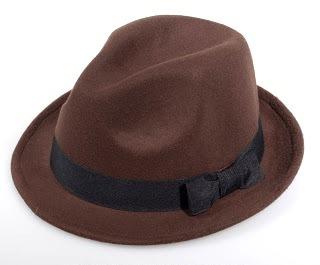 Chapéu fedora aba curta feltro marrom - Loja vsanto 5a957932b0f