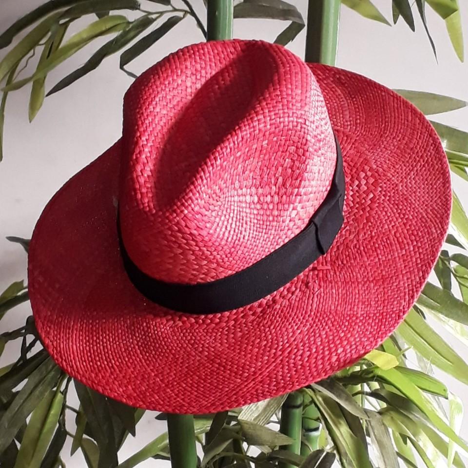 Chapéu Panamá Vermelho - Cappadocia Acessórios b33bc7bbf84
