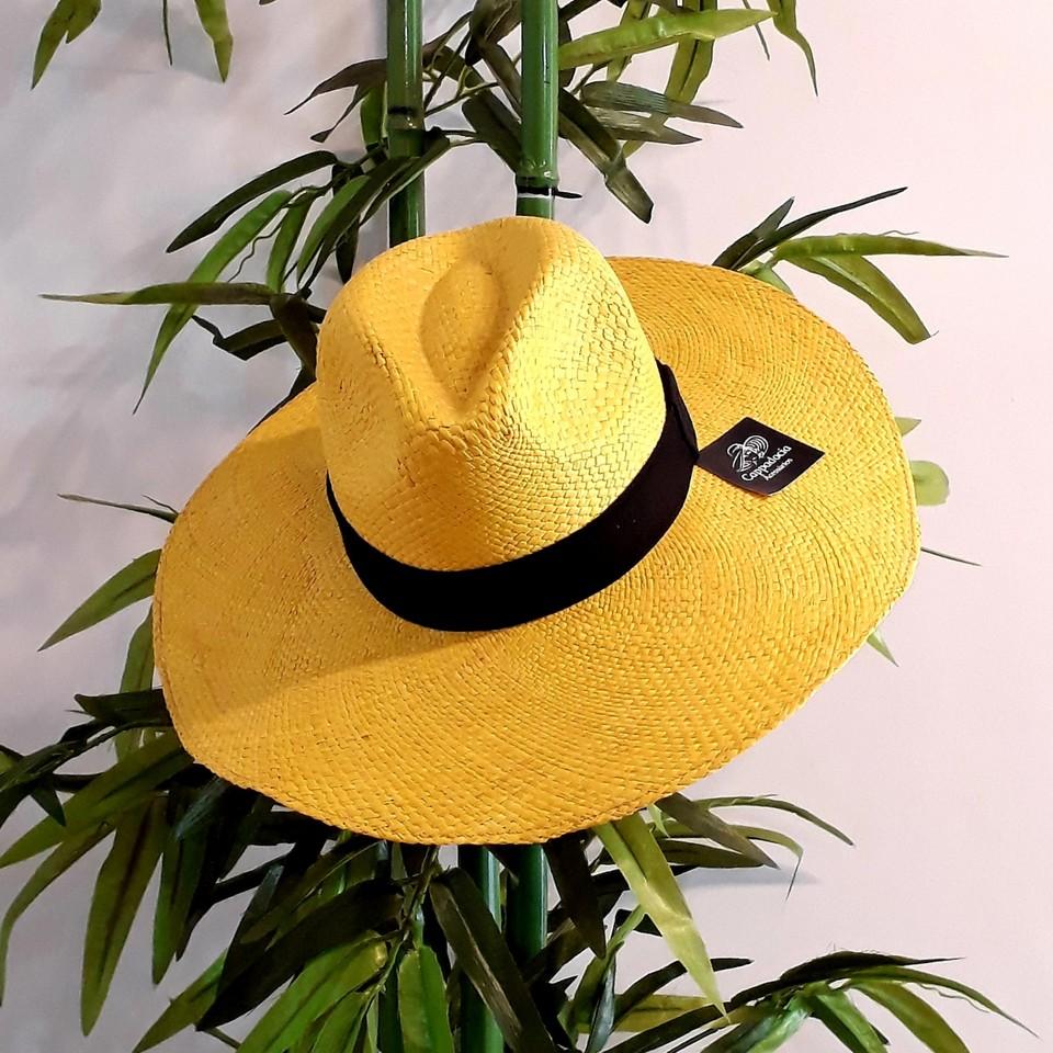 Chapéu Panamá Aba Grande Amarelo - Cappadocia Acessórios 6b51137b58d