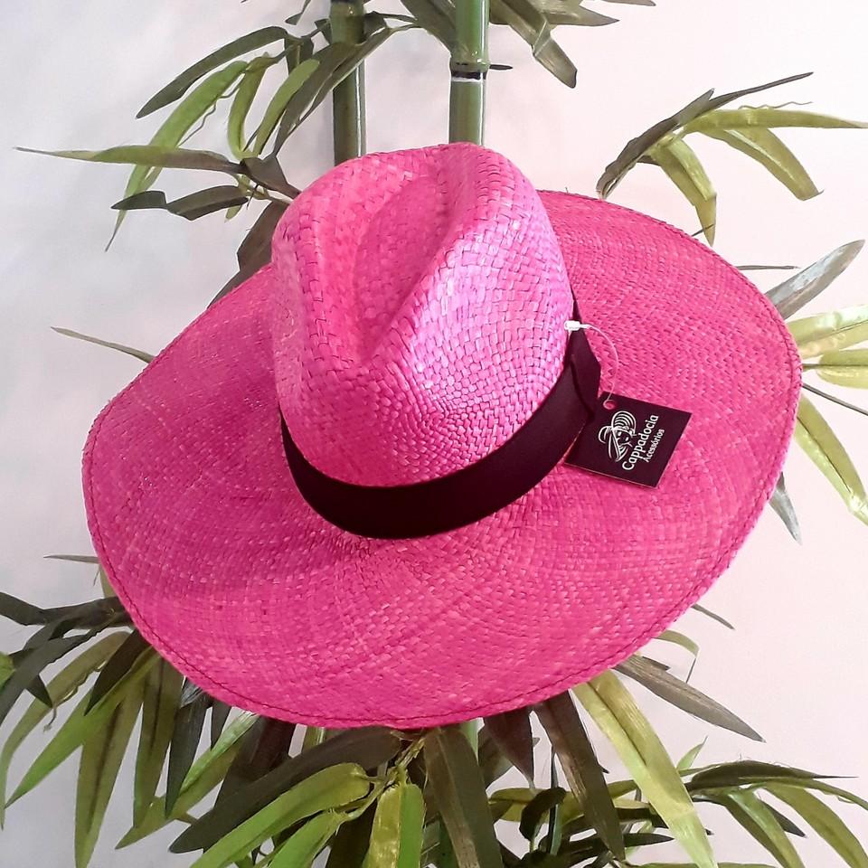 Chapéu Panamá Aba Grande Pink - Cappadocia Acessórios ecf585353a7