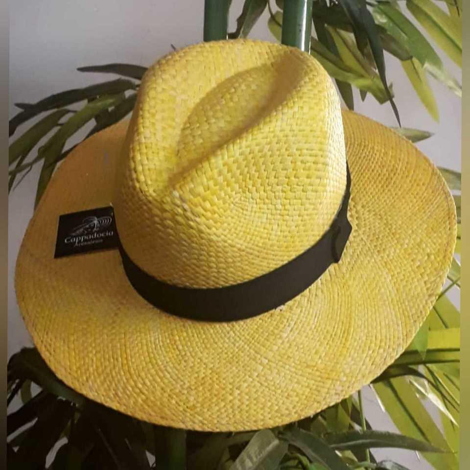 Chapéu Panamá Amarelo - Cappadocia Acessórios b7f5a0ccb8d
