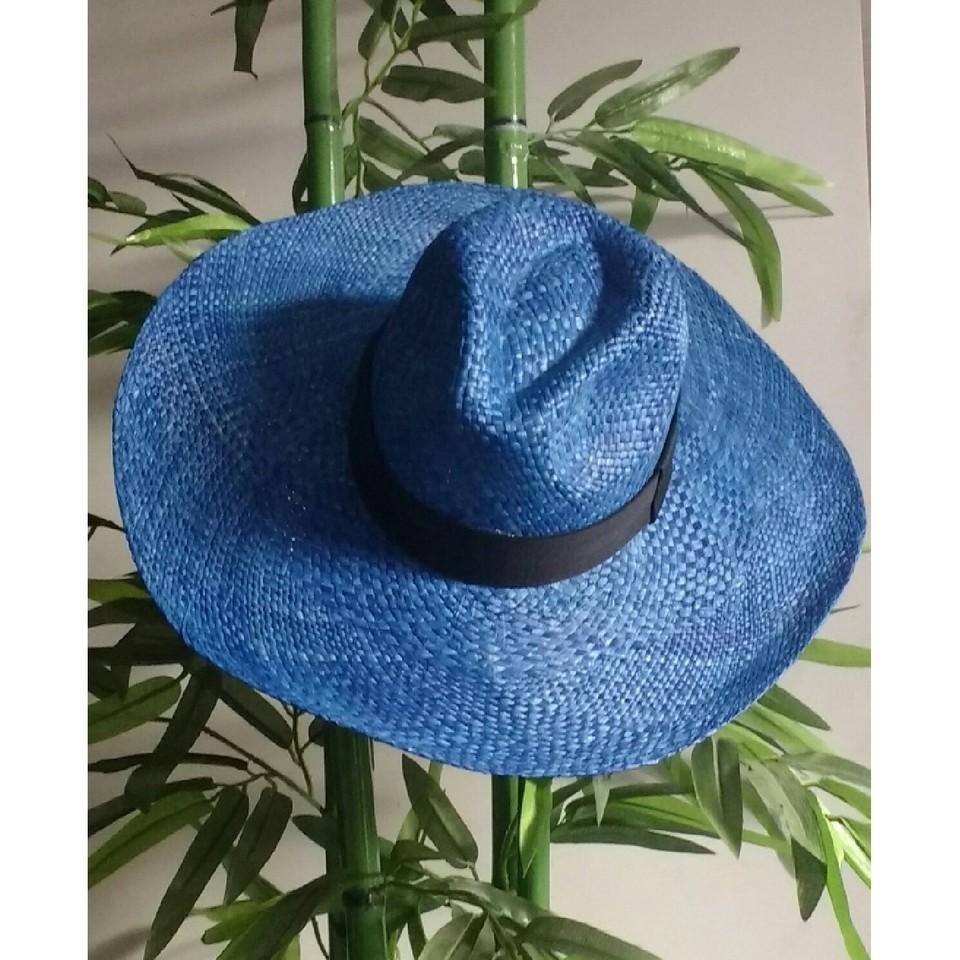 Chapéu Panamá Aba Grande Azul - Cappadocia Acessórios a29b815ec22
