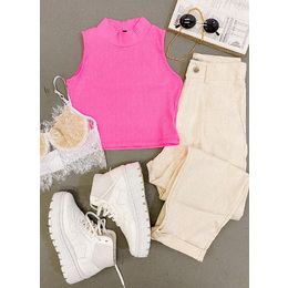 Cropped Anna rosa Neon