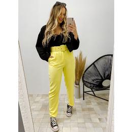 Calça alfaiataria amarela