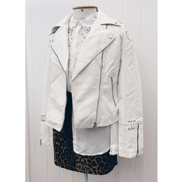 Jaqueta couro branca