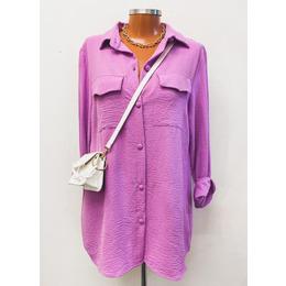 Camisa long lilás