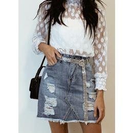 Saia jeans Lala