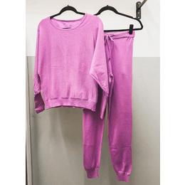 Conjunto tricô modal pink