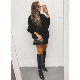 Poncho tricô black