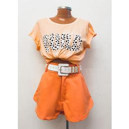 Shorts godê laranja