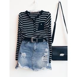 Blusa linha navy black