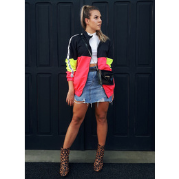 Jaqueta Windbreakers neon