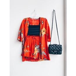 Conjunto Kimono coral