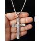 Cordão cruz prata