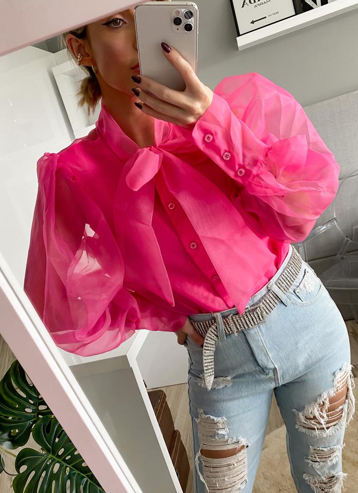 Camisa organza pink