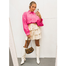 Camisa tricoline Pink