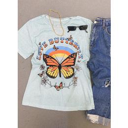 Tee boy Butterfly blue