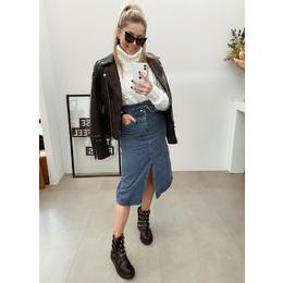 Saia midi jeans blue